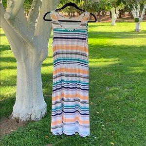 3/$20{a.n.a.}Sz M Striped Stretchy Hi Low Dress